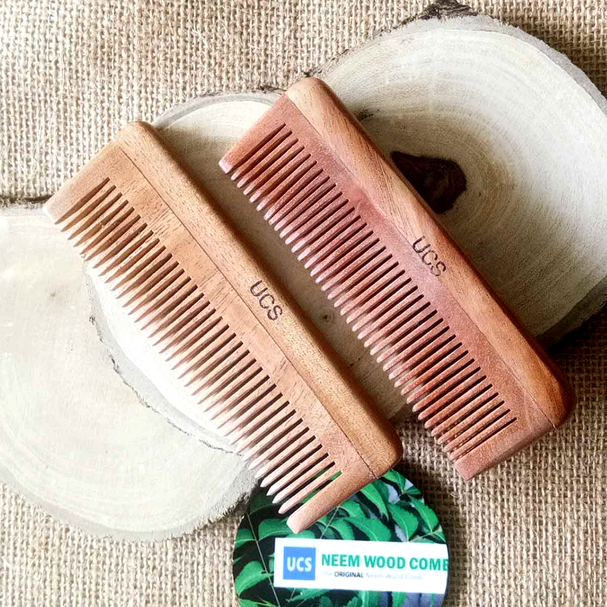 UCS Baby Comb Made of Neem Wood Set of 2 Baby Combs (UCS1018)