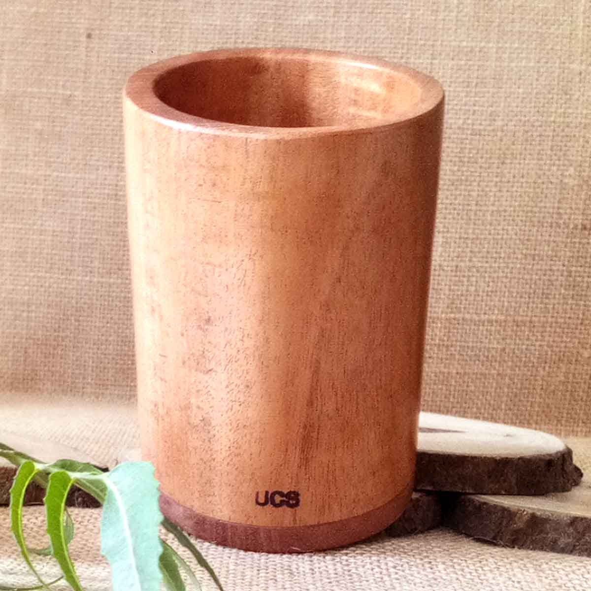 Control Diabetes with UCS Neem Wood Tumbler