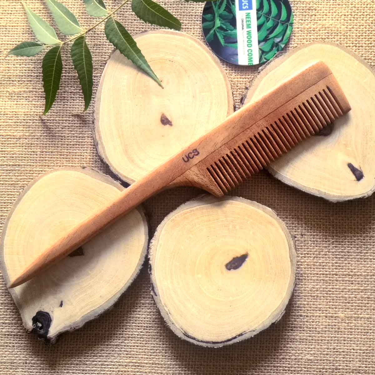 UCS Neem Wood Tail Comb 1 Hair Comb (UCS1017)